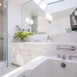 residential remodel white marble master bath SF CA